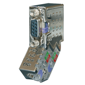 PROFIBUS DP (45°) Connector with LEDs - Fast-Connect with PG